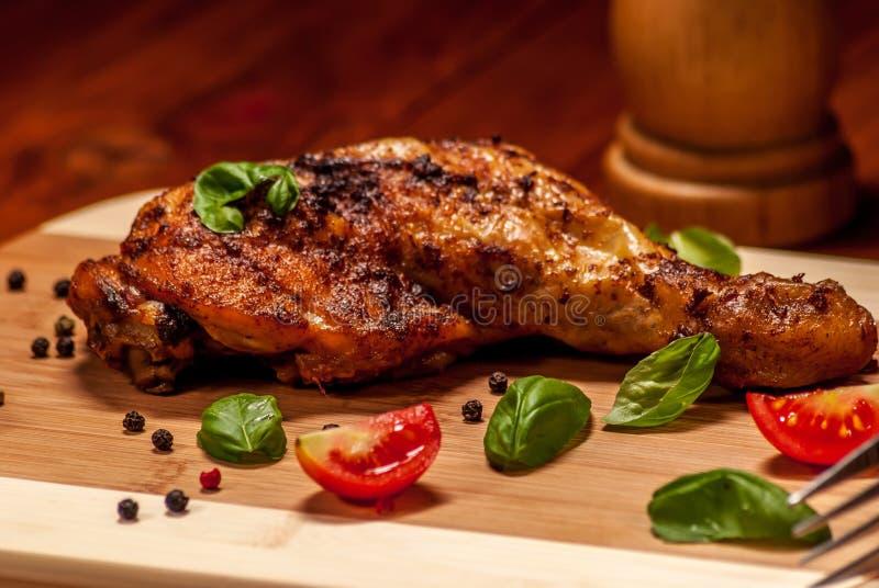 Κοτόπουλο σχαρών στοκ εικόνα