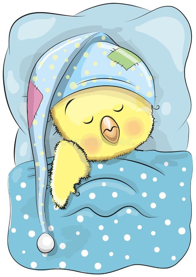 Κοτόπουλο ύπνου ελεύθερη απεικόνιση δικαιώματος