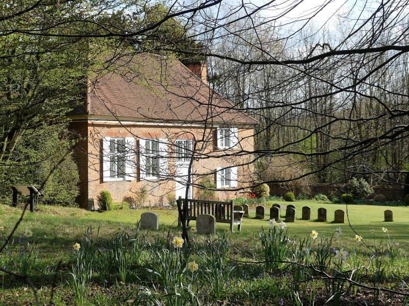 Κουάκεροι φίλοι που συναντούν το σπίτι σε Jordans Η θέση ενταφιασμών του William Penn, ιδρυτής της επαρχίας της Πενσυλβανίας στοκ εικόνα με δικαίωμα ελεύθερης χρήσης
