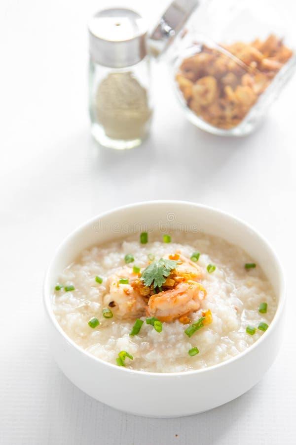 Κουάκερ ρυζιού με τις γαρίδες στοκ φωτογραφίες με δικαίωμα ελεύθερης χρήσης