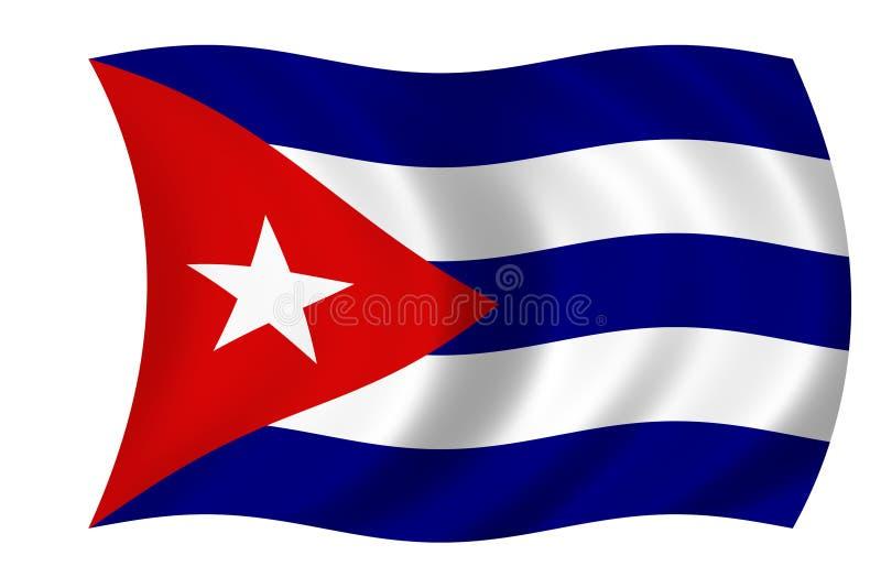 κουβανική σημαία διανυσματική απεικόνιση