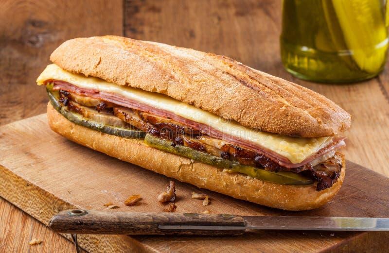 Κουβανικό σάντουιτς στοκ εικόνες με δικαίωμα ελεύθερης χρήσης