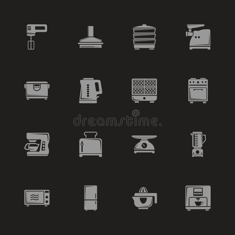 Κουζίνα - επίπεδα διανυσματικά εικονίδια απεικόνιση αποθεμάτων