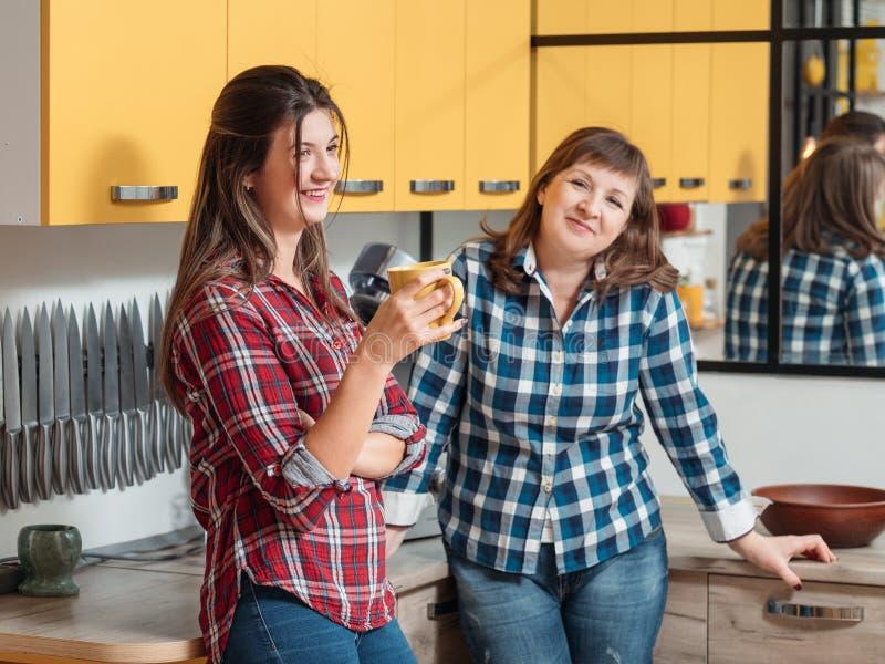 Κουζίνα επικοινωνίας ποιοτικού χρόνου οικογενειακού ελεύθερου χρόνου στοκ φωτογραφίες