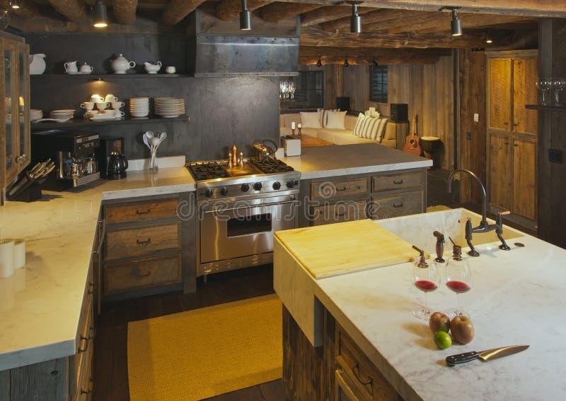 κουζίνα καμπινών σύγχρονη στοκ εικόνα