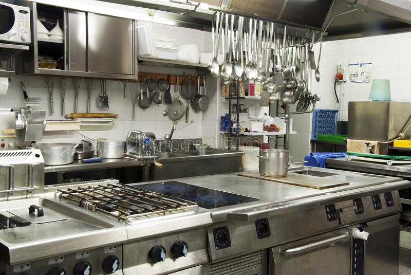 κουζίνα ξενοδοχείων στοκ φωτογραφίες