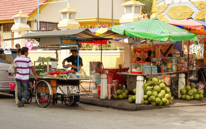 Κουζίνα οδών, Penang, Μαλαισία στοκ εικόνες