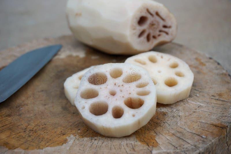 Κουζίνα ρίζας Lotus στοκ εικόνες