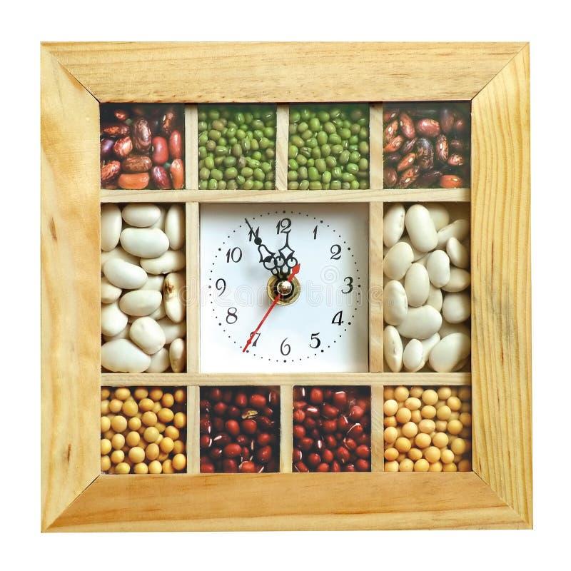 Download κουζίνα ρολογιών στοκ εικόνες. εικόνα από φασολιών, κίτρινος - 394220