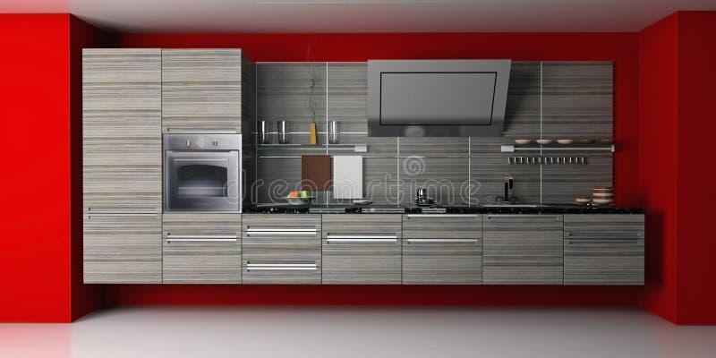 κουζίνα σύγχρονη ελεύθερη απεικόνιση δικαιώματος