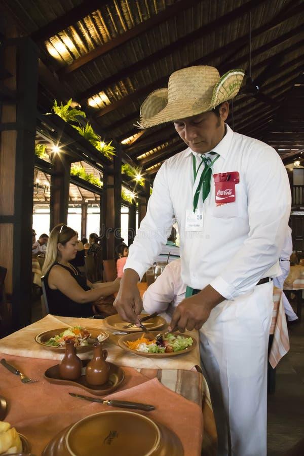 Κουζίνα της Λατινικής Αμερικής Εστιατόριο στη Βολιβία στοκ φωτογραφία