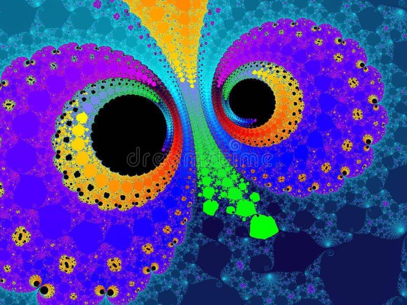 κουκουβάγια ματιών διανυσματική απεικόνιση
