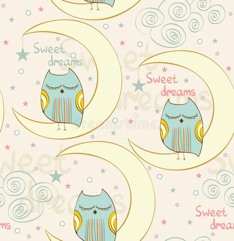 Κουκουβάγια ύπνου διανυσματική απεικόνιση