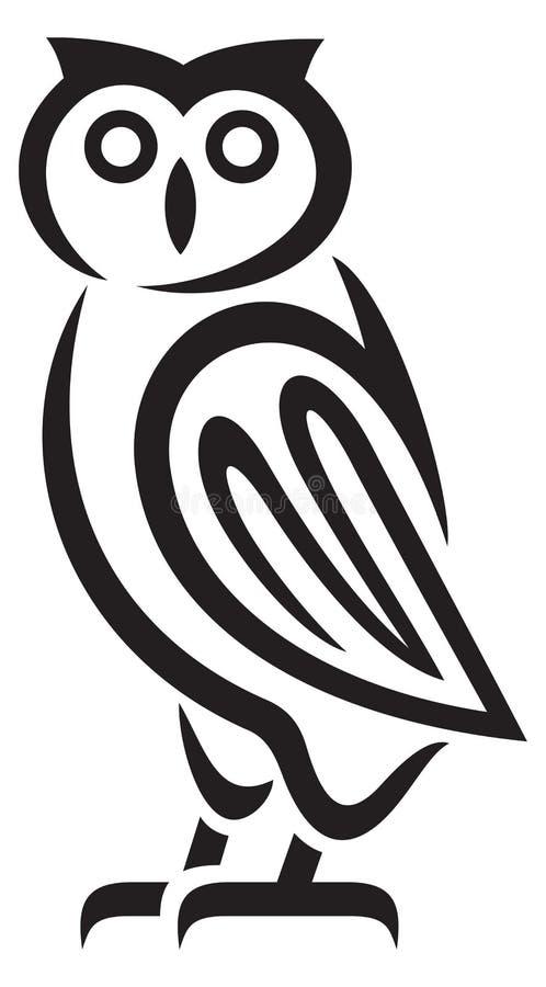 κουκουβάγια ελεύθερη απεικόνιση δικαιώματος