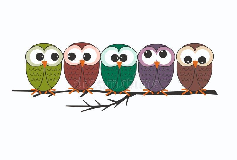 κουκουβάγιες ελεύθερη απεικόνιση δικαιώματος