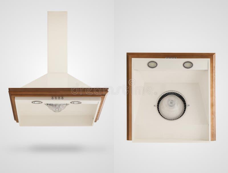 Κουκούλα κουζινών σε ένα άσπρο υπόβαθρο στοκ εικόνα