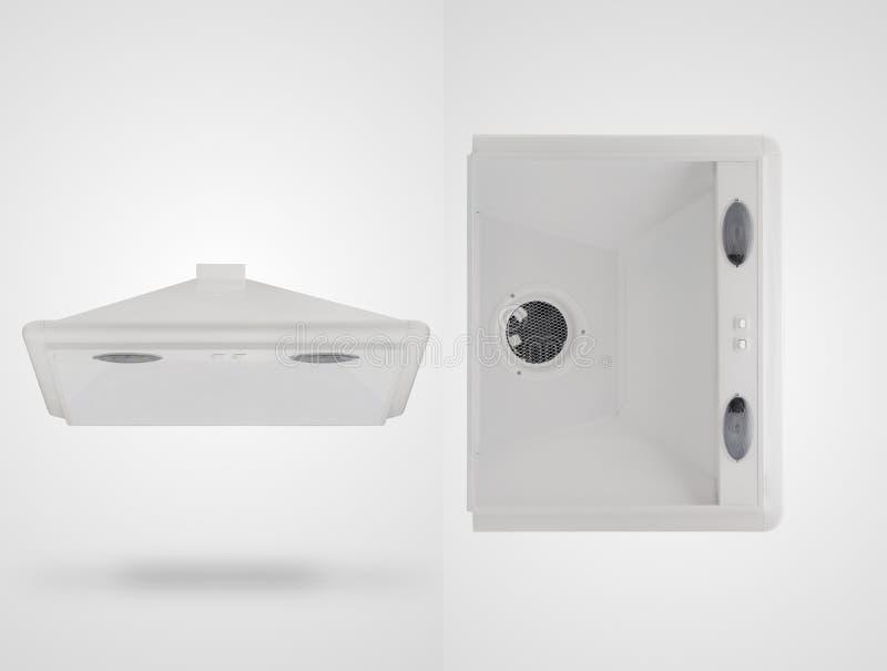 Κουκούλα κουζινών σε ένα άσπρο υπόβαθρο στοκ εικόνες με δικαίωμα ελεύθερης χρήσης