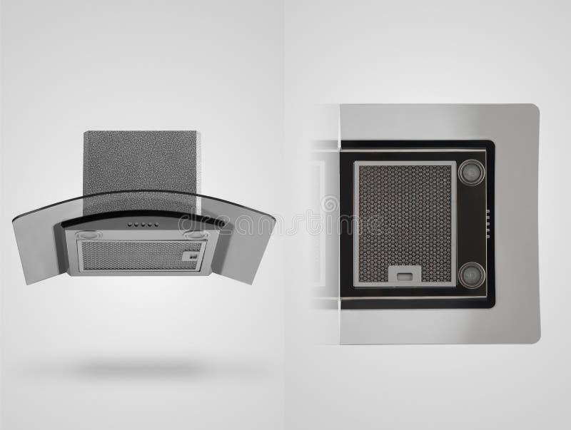 Κουκούλα κουζινών σε ένα άσπρο υπόβαθρο στοκ φωτογραφία με δικαίωμα ελεύθερης χρήσης