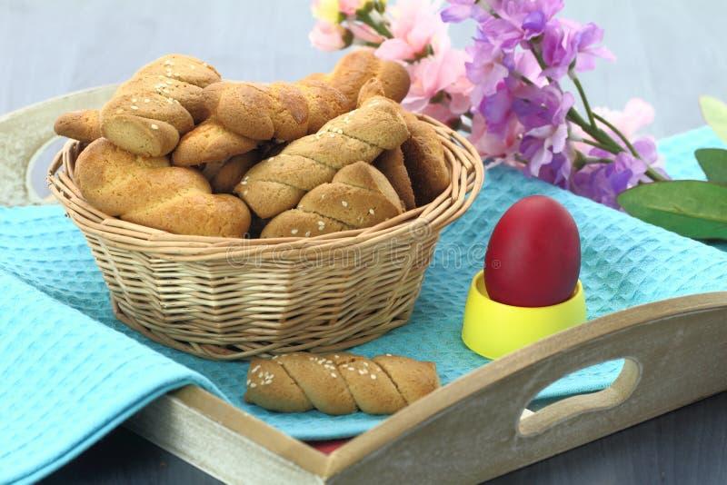 κουλουράκι Πάσχας μπισκότων στοκ εικόνα