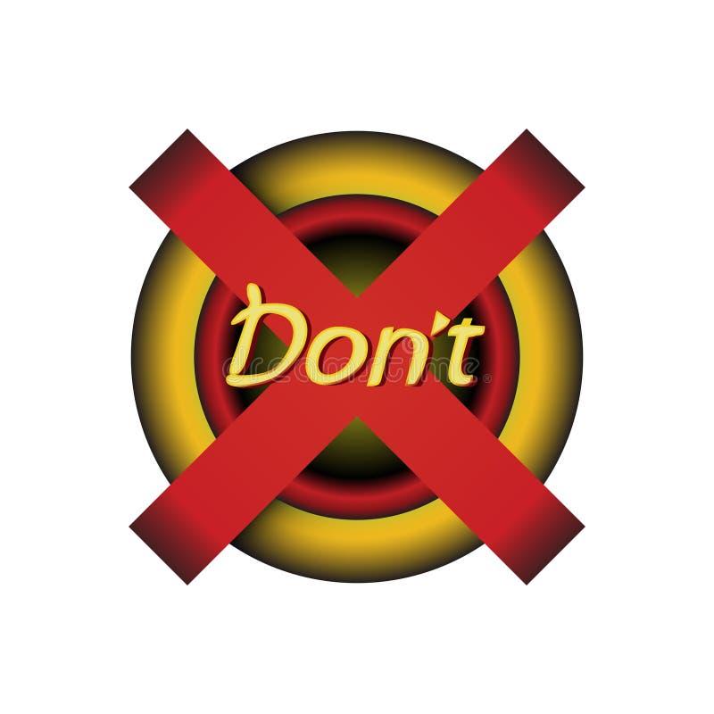 Κουμπί αναδρομικό UI, - μην ωθήστε Οι βασικοί, παλαιοί υπολογιστές κουμπιών στάσεων, όχι κουμπί Μην πιέστε το διανυσματικό τρύγο  απεικόνιση αποθεμάτων
