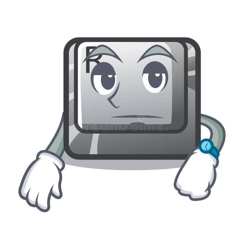 Κουμπί αναμονής Ρ στο παιχνίδι κινούμενων σχεδίων ελεύθερη απεικόνιση δικαιώματος