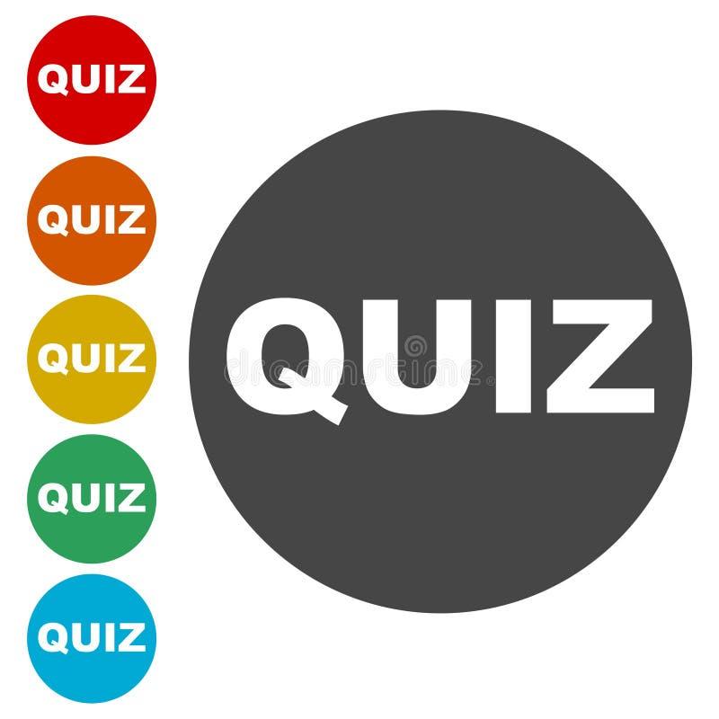 Κουμπί διαγωνισμοου γνώσεων, σύνολο εικονιδίων διαγωνισμοου γνώσεων απεικόνιση αποθεμάτων