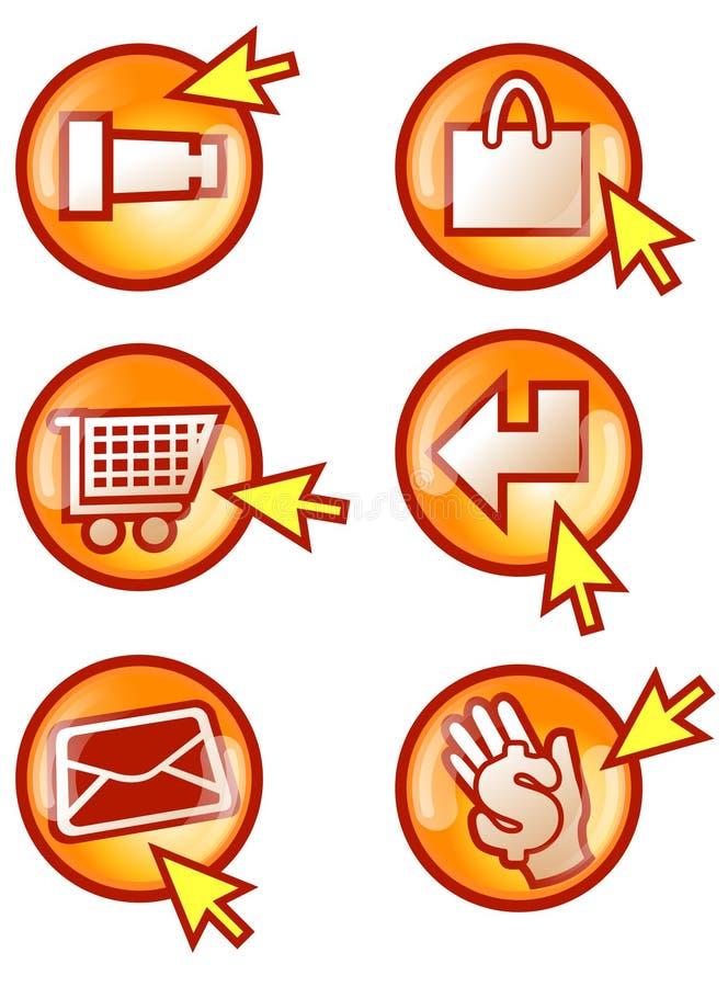 κουμπί Διαδίκτυο απεικόνιση αποθεμάτων