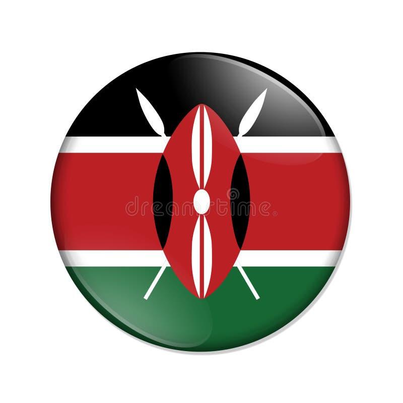 Κουμπί διακριτικών σημαιών χωρών της Κένυας διανυσματική απεικόνιση