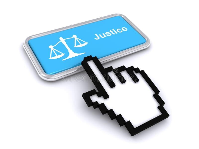 κουμπί 'Δικαιοσύνη' απεικόνιση αποθεμάτων