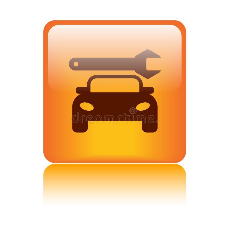 Κουμπί εικονιδίων επισκευής αυτοκινήτων ελεύθερη απεικόνιση δικαιώματος