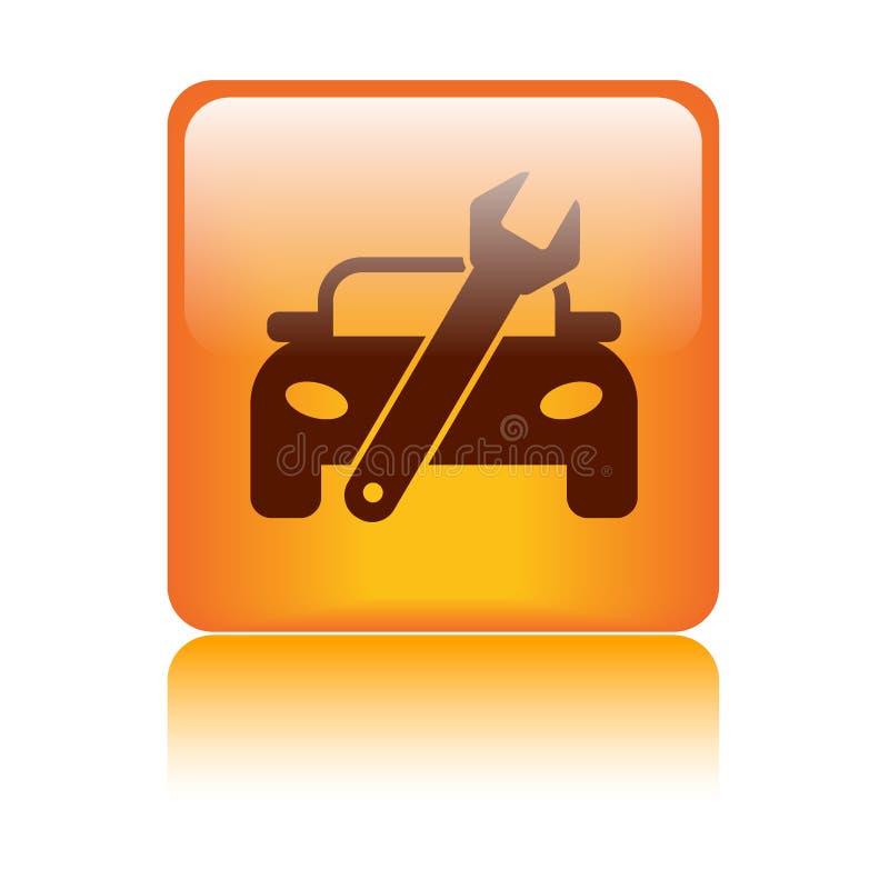 Κουμπί εικονιδίων επισκευής αυτοκινήτων διανυσματική απεικόνιση