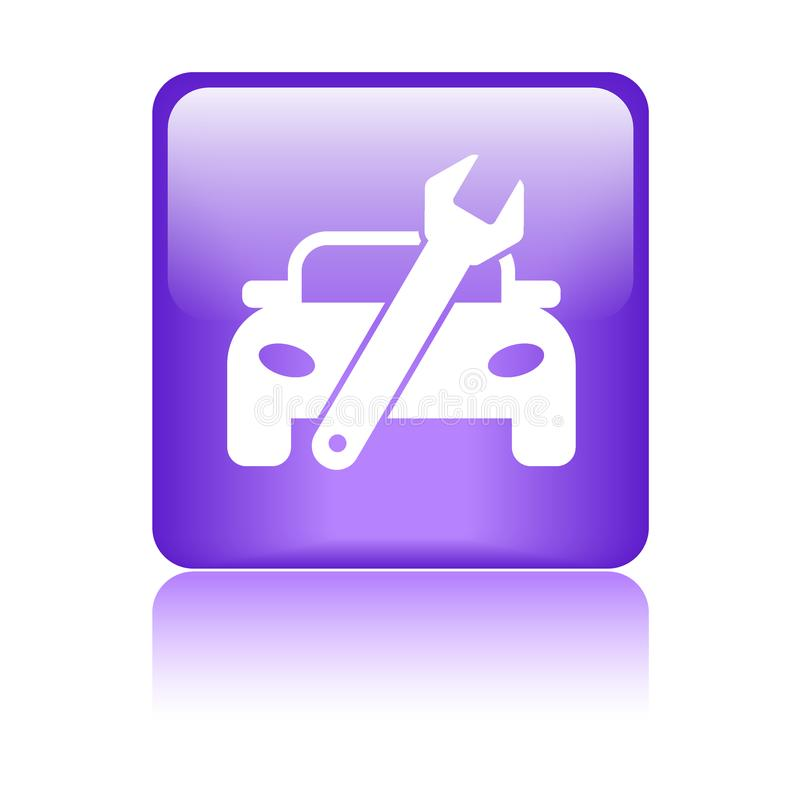 Κουμπί εικονιδίων επισκευής αυτοκινήτων απεικόνιση αποθεμάτων