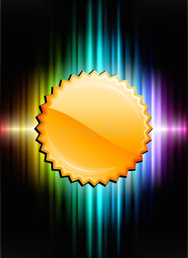 Κουμπί εικονιδίων χρυσών μεταλλίων στο αφηρημένο υπόβαθρο φάσματος ελεύθερη απεικόνιση δικαιώματος