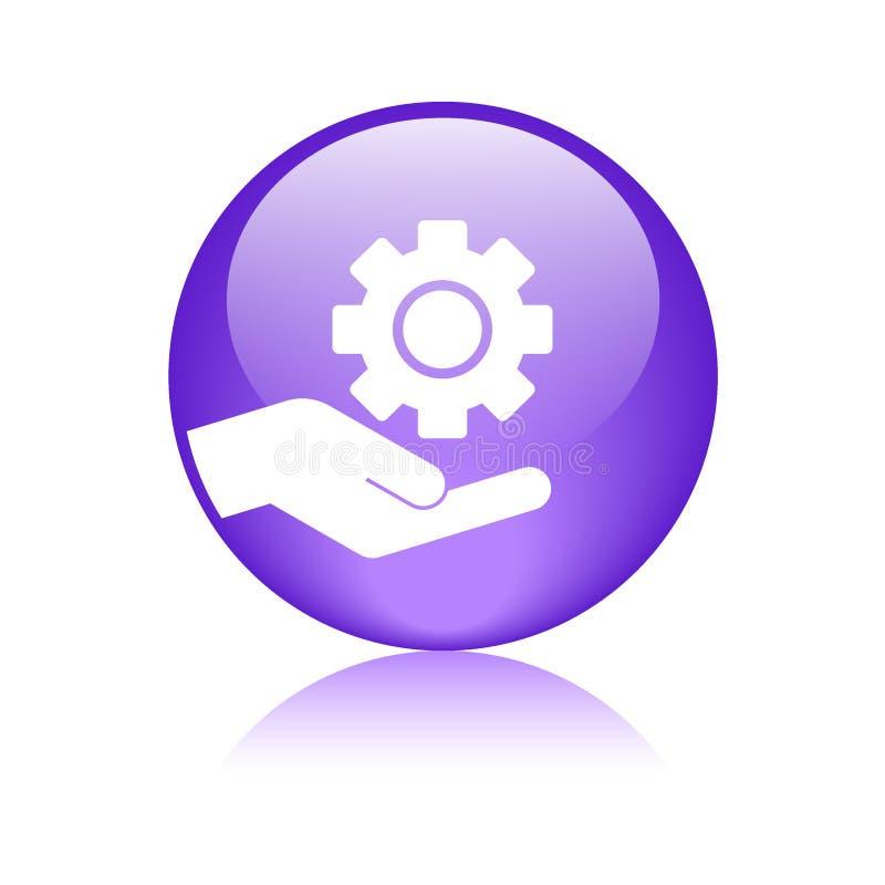 Κουμπί εργαλείων χεριών συντήρησης απεικόνιση αποθεμάτων