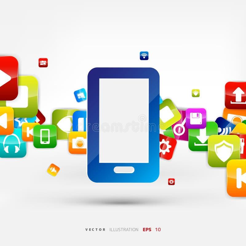 κουμπί εφαρμογής συνομιλίες έννοιας επικοινωνίας δεσμών που έχουν τους ανθρώπους μέσων κοινωνικούς σύννεφο του 2010 που υπολ&omic διανυσματική απεικόνιση