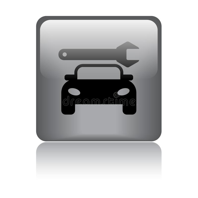 Κουμπί Ιστού εικονιδίων υπηρεσιών αυτοκινήτων απεικόνιση αποθεμάτων