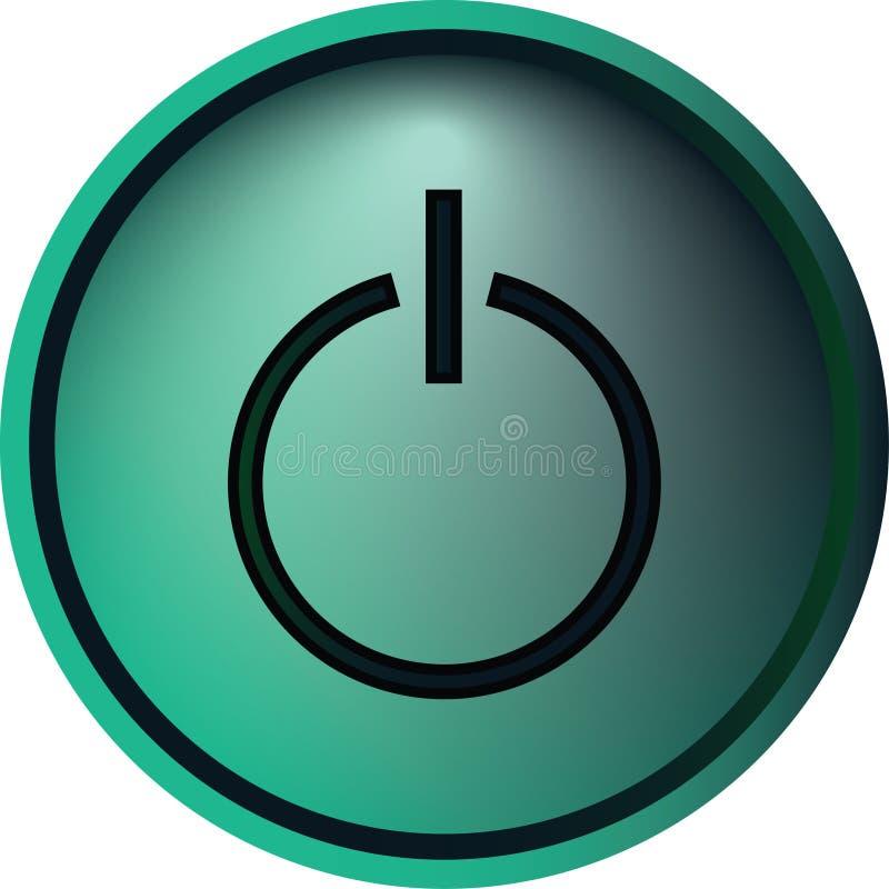 Κουμπί ισχύος στοκ φωτογραφία