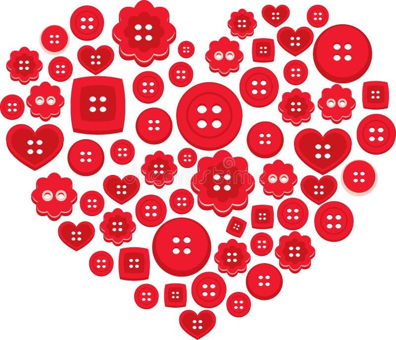 κουμπί ι αγάπη απεικόνιση αποθεμάτων