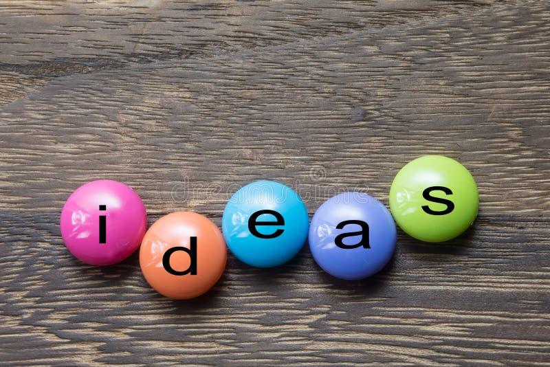 Κουμπί ιδεών στοκ εικόνες