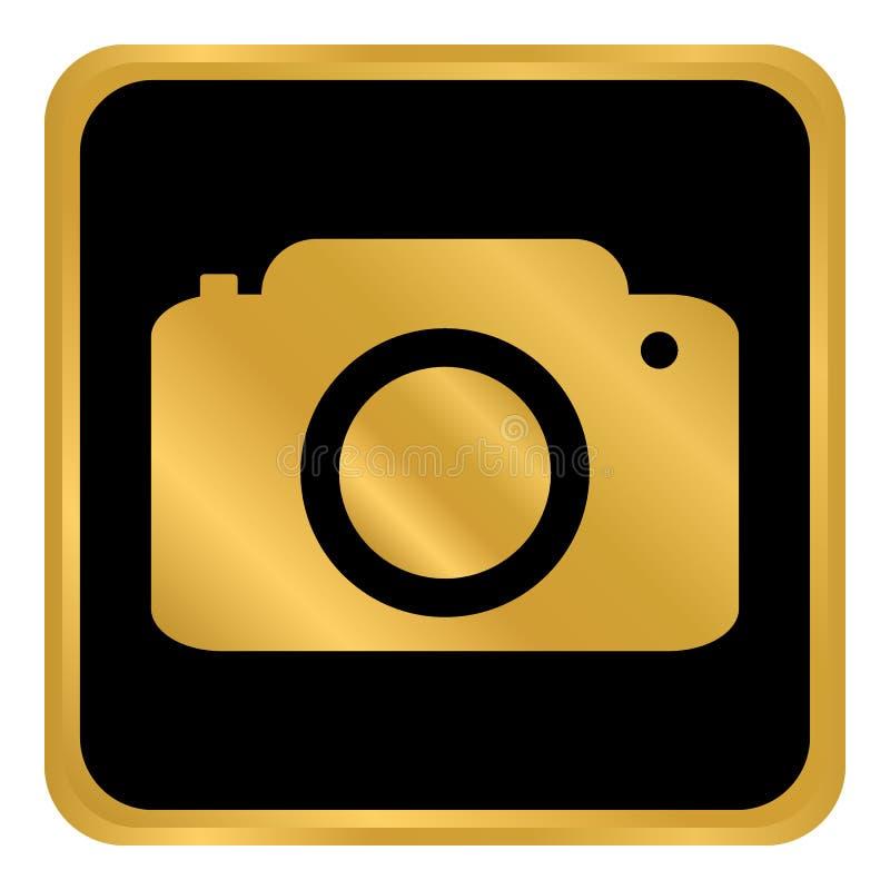 Κουμπί καμερών στο λευκό διανυσματική απεικόνιση