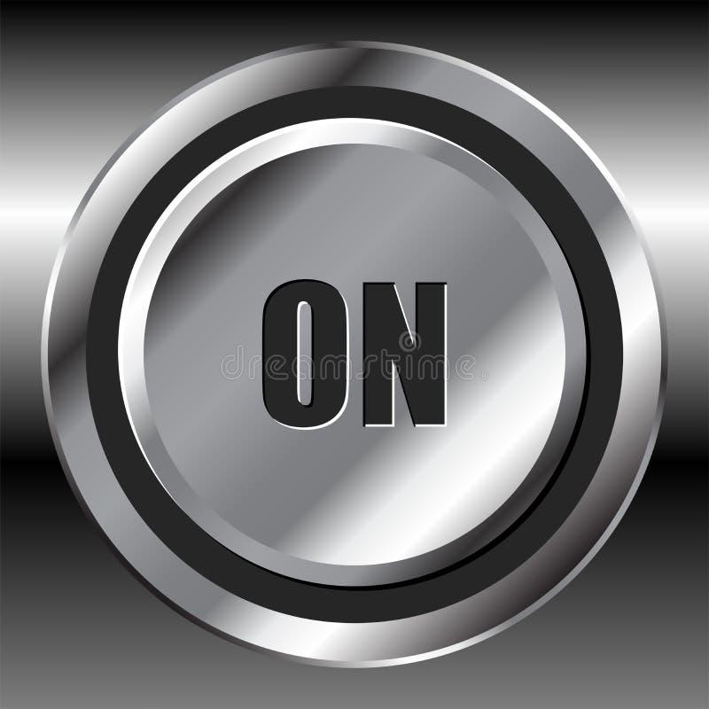 κουμπί μεταλλικό διανυσματική απεικόνιση
