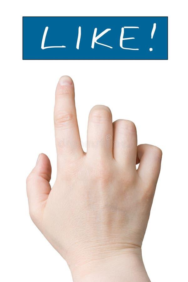 κουμπί που χτυπά όπως στοκ εικόνα με δικαίωμα ελεύθερης χρήσης