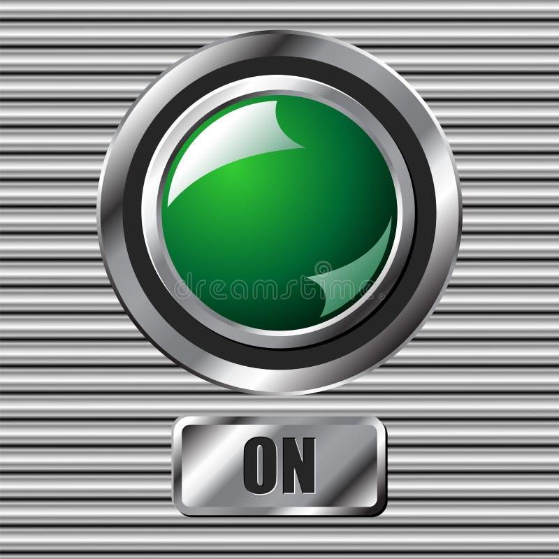κουμπί πράσινο απεικόνιση αποθεμάτων