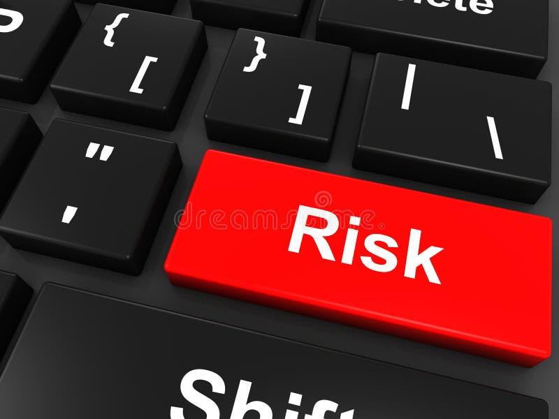 Κουμπί πληκτρολογίων κινδύνου απεικόνιση αποθεμάτων