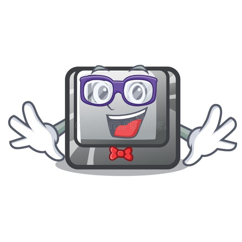 Κουμπί Π Geek στη μασκότ μορφής ελεύθερη απεικόνιση δικαιώματος