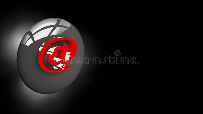 Κουμπί στην τρισδιάστατη απεικόνιση στοκ εικόνες με δικαίωμα ελεύθερης χρήσης