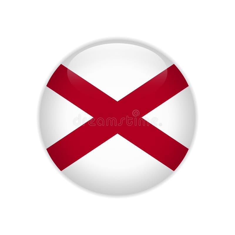 Κουμπί της Αλαμπάμα σημαιών ελεύθερη απεικόνιση δικαιώματος