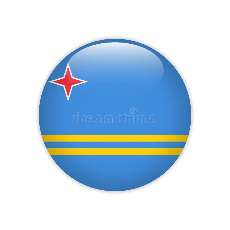 Κουμπί της Αρούμπα σημαιών ελεύθερη απεικόνιση δικαιώματος