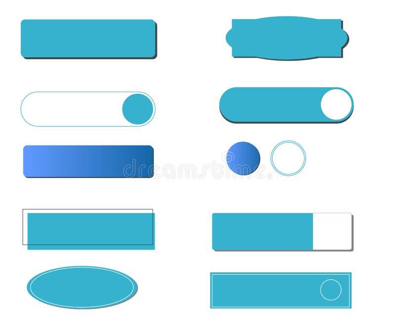 Κουμπί τις διαφορετικές μορφές και τις μορφές που απομονώνονται με διανυσματική απεικόνιση