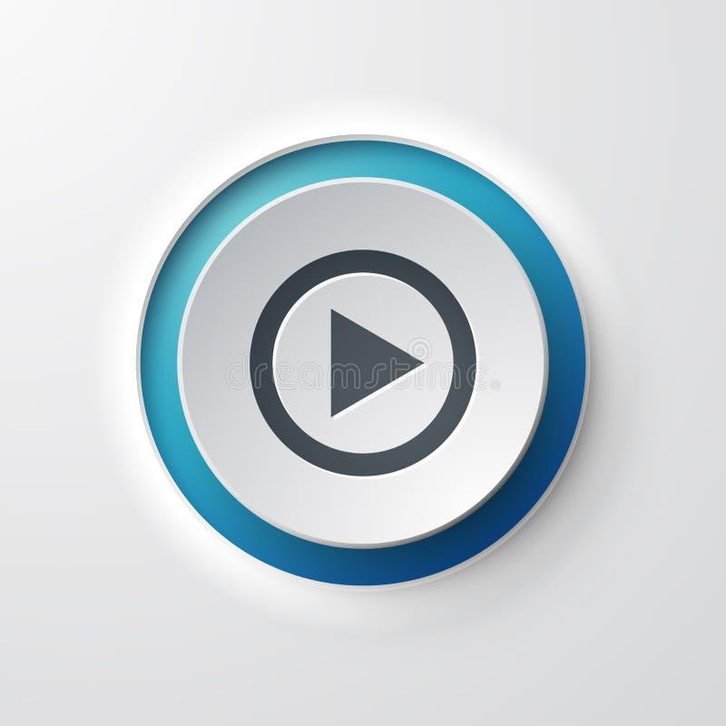 Κουμπί ώθησης εικονιδίων Ιστού παιχνιδιού απεικόνιση αποθεμάτων